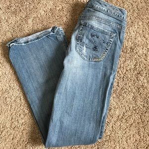 SILVER JEANS with Stitched Patches